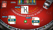 32 Red Casino Table